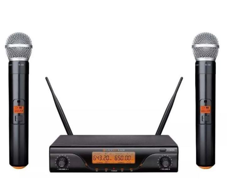Microfone Sem Fio Kadosh K-412M Duplo Recarregável