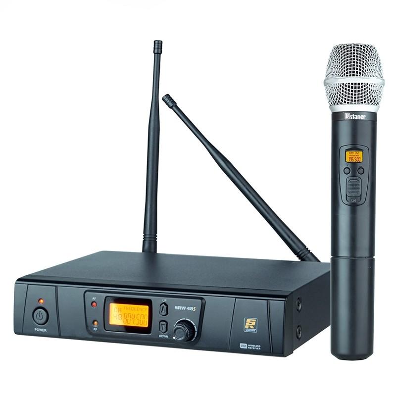 Microfone Sem Fio Staner SRW48S HT Bastão Uhf Digital