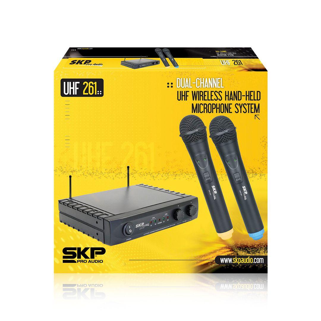 MICROFONE SKP UHF261 SEM FIO