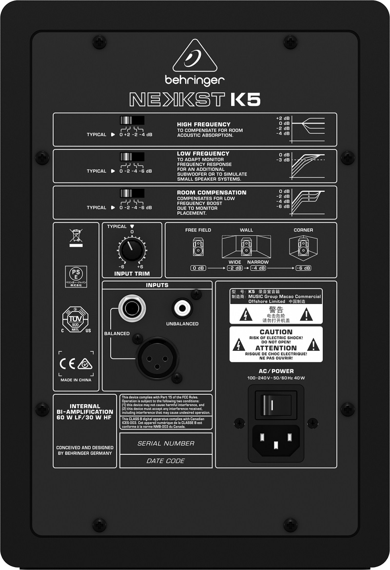 Monitor De Referência Ativo Behringer Nekkst K5 150w
