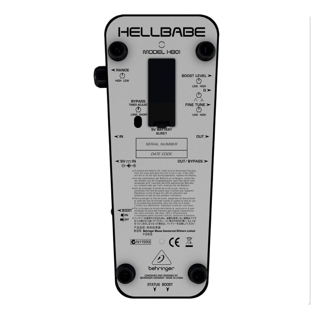 Pedal Behringer HB01 Wah Wah HB01 Para Guitarra 2 Anos Garantia