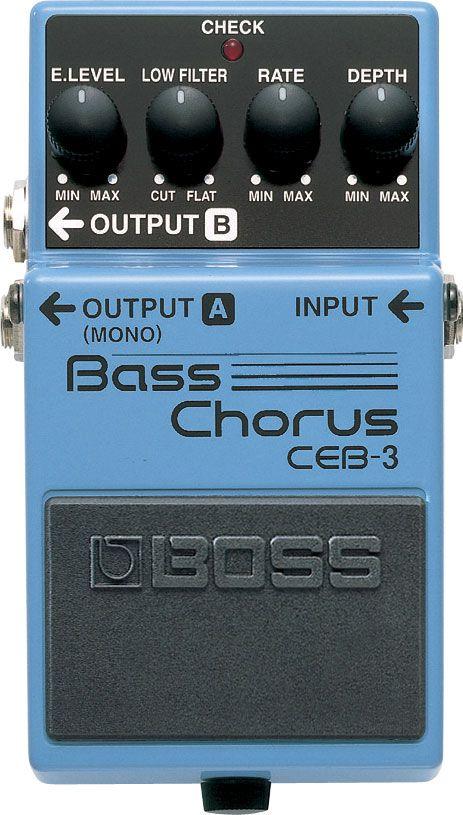 Pedal Boss Bass Chorus Ceb3 P/ Contra Baixo