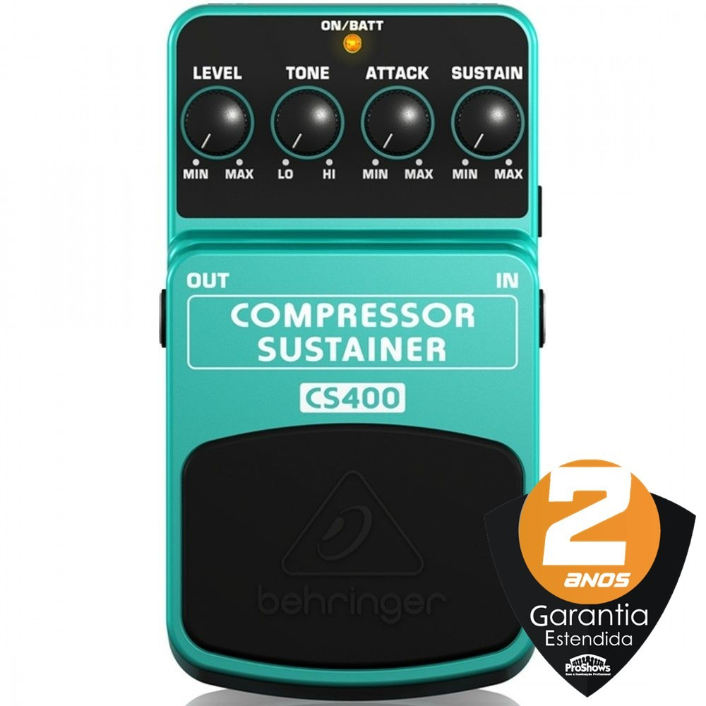 Pedal Guitarra Behringer CS400 Compressor Sustainer