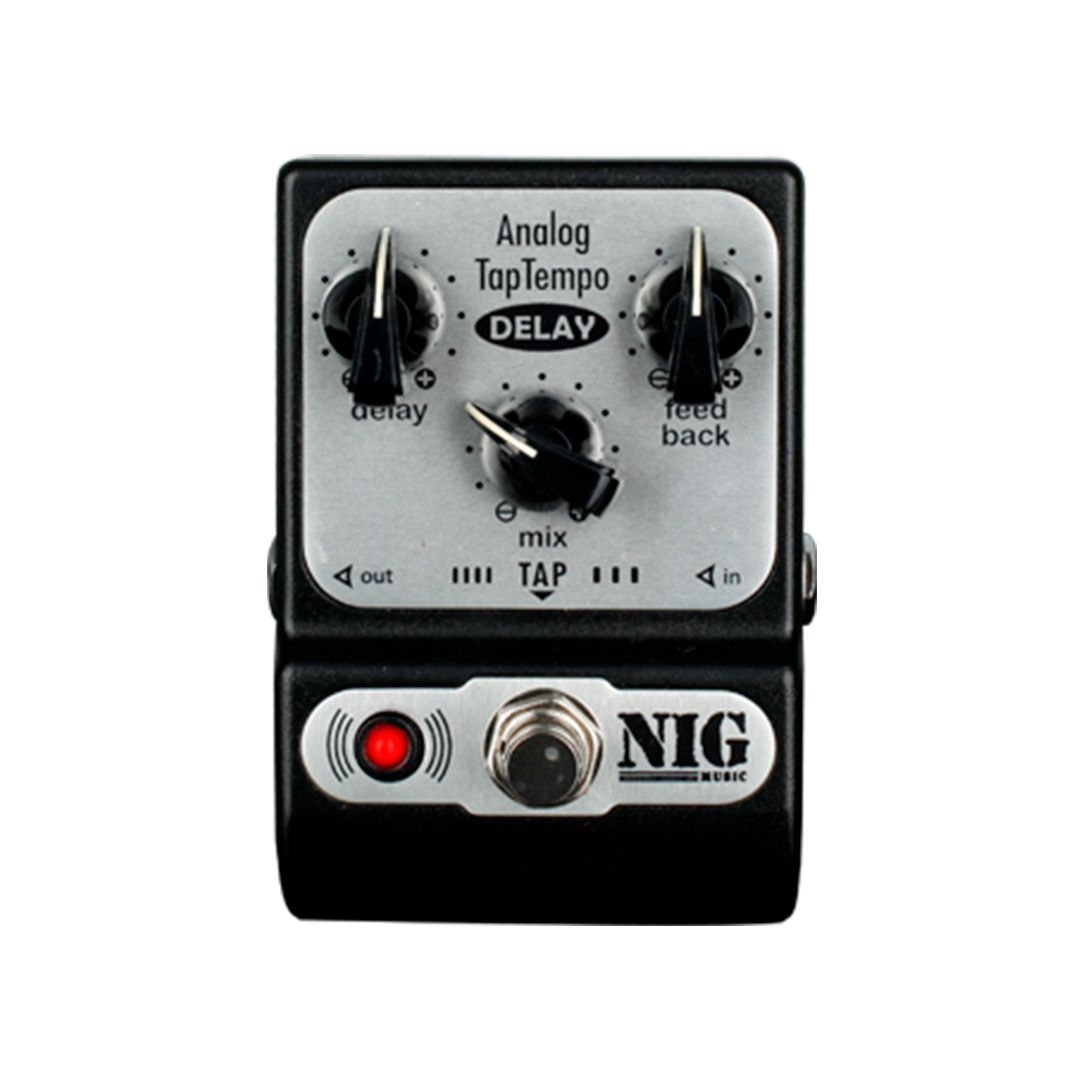 Pedal Guitarra Nig Pocket Analog Tap Tempo Delay