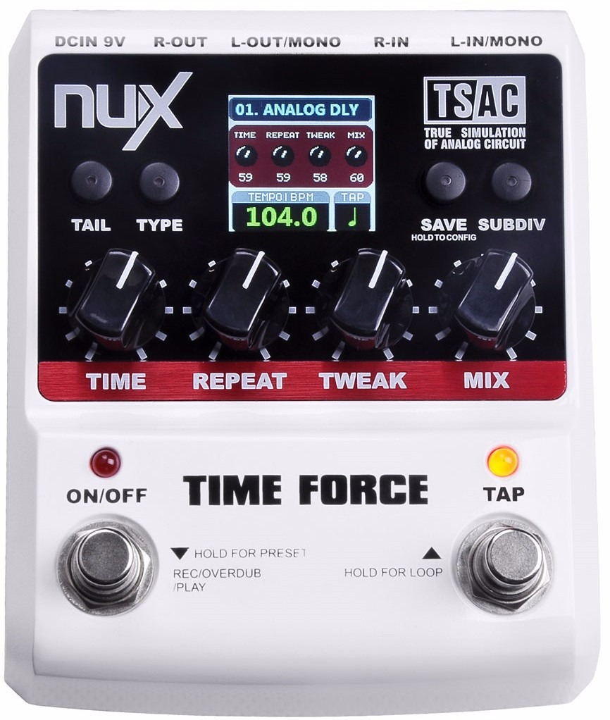 Pedal Nux Time Force 11 Modelos De Delay | Loop