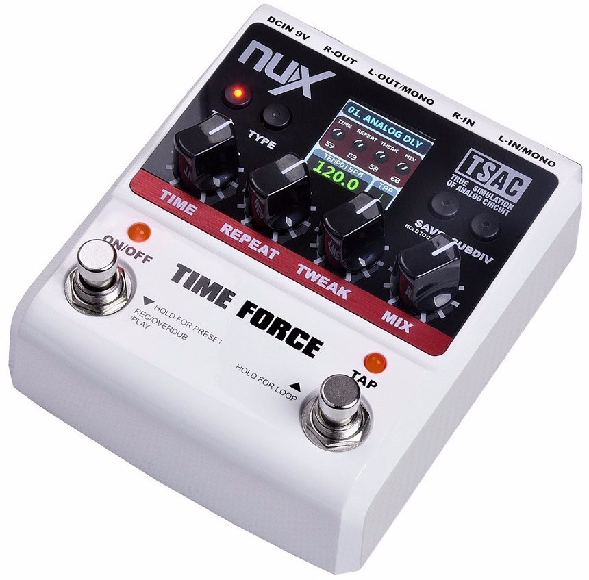Pedal Nux Time Force 11 Modelos De Delay | Loop
