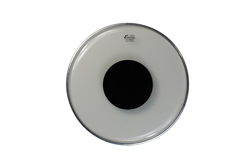 Pele Encore By Remo 10 Pol Controlled Sound Clear Abafador Preto EN-0310-CT