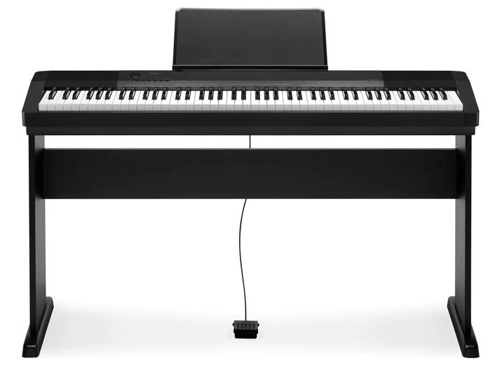 Piano Digital Casio Cdp130 Bk 88 Teclas C/ Fonte | Estante | Pedal Sustain