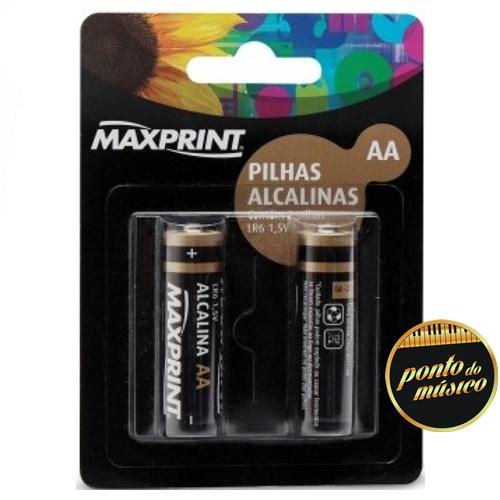 Caixa de Pilha Alcalina Maxprint 1,5V (Caixa com 12 cartelas)