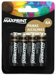 Pilha Alcalina Maxprint AA 1,5V