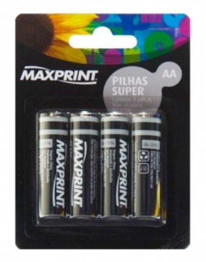 Pilha Maxprint Super R6 AA 1,5V
