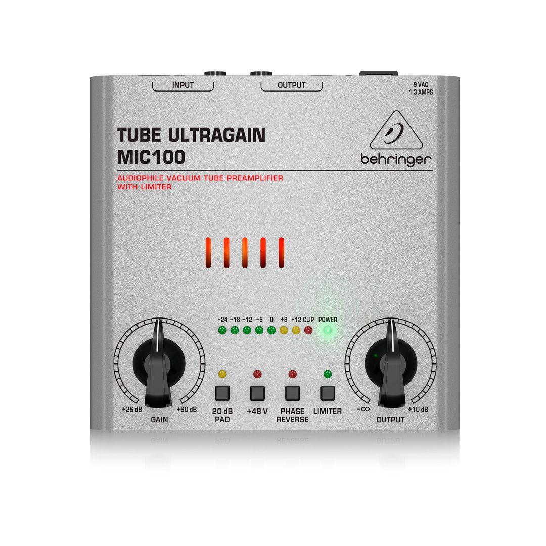Pré Amplificador Behringer Tube Ultragain Mic100 Valvulado 2 Anos Garantia