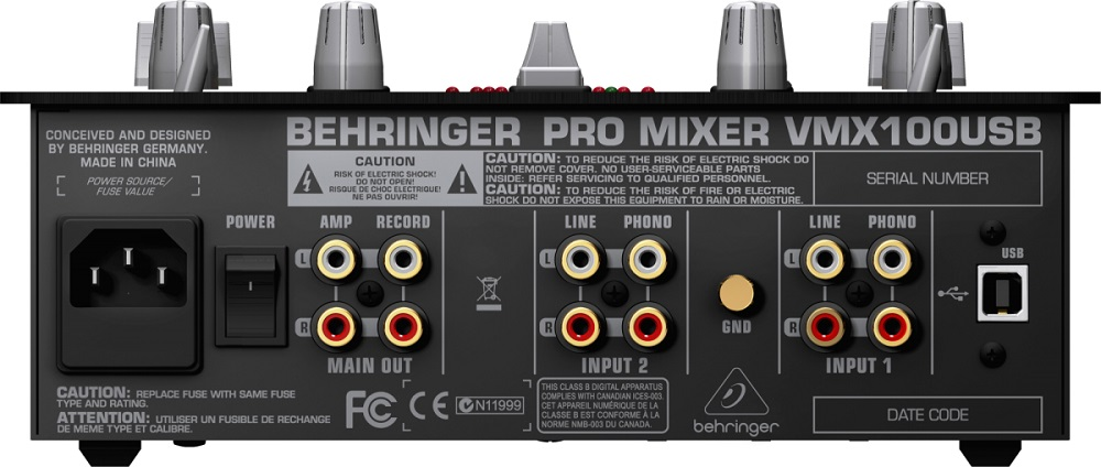 Mixer Para Dj Behringer Vmx100 usb 2 Canais 110V