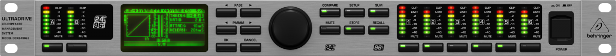 Processador Crossover Digital Behringer Ultradrive Pro DCX2496 LE
