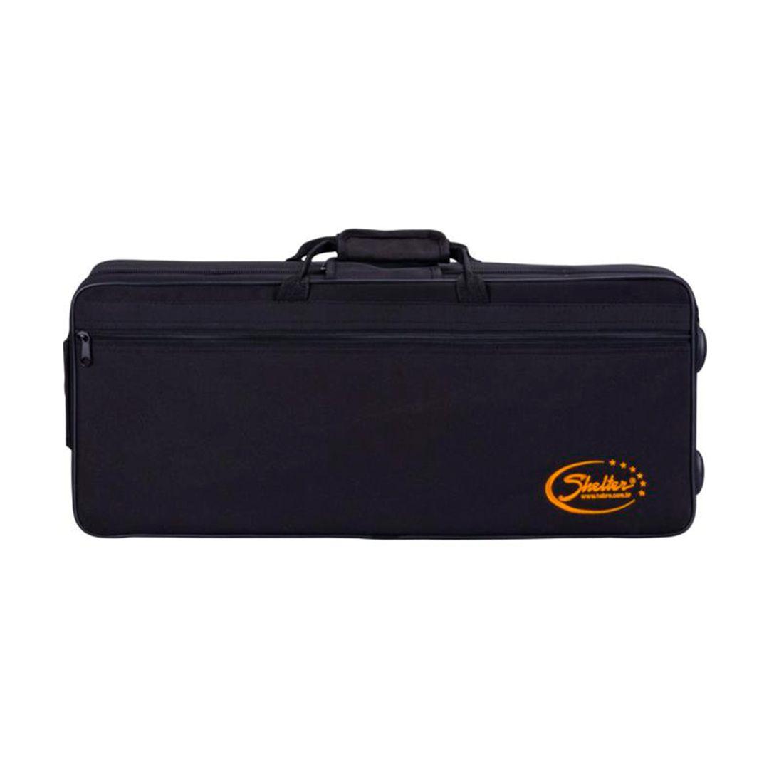 Sax Alto Shelter Sgft6430l Laqueado Dourado Em Eb C/ Case - Outlet Premium