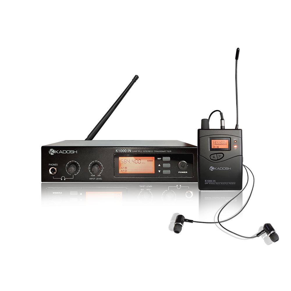 Sistema de Retorno In Ear S/ fio Kadosh k1000in Profissional  - Outlet Premium