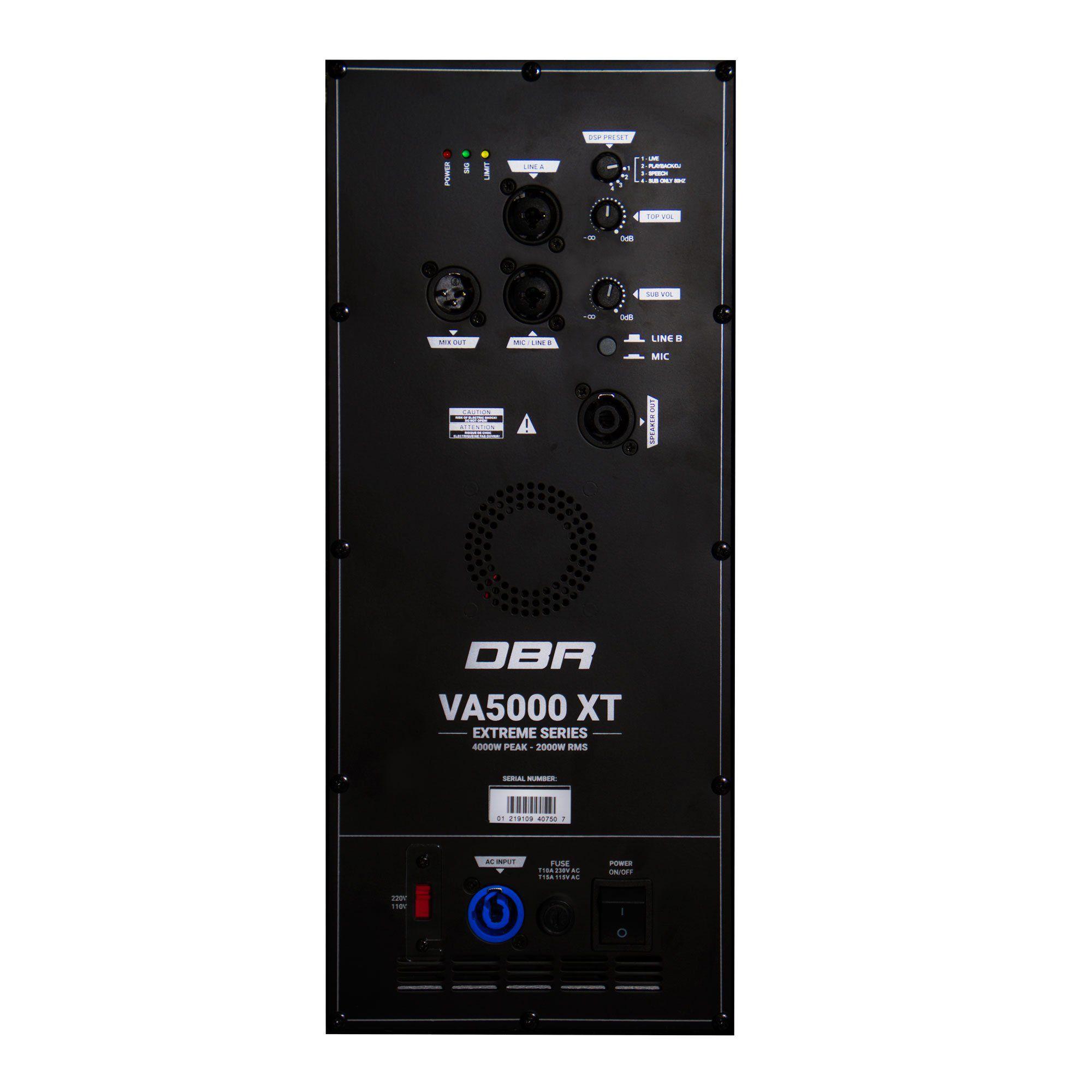 Sistema de Som Profissional 2000W –VA5000 XT - DBR