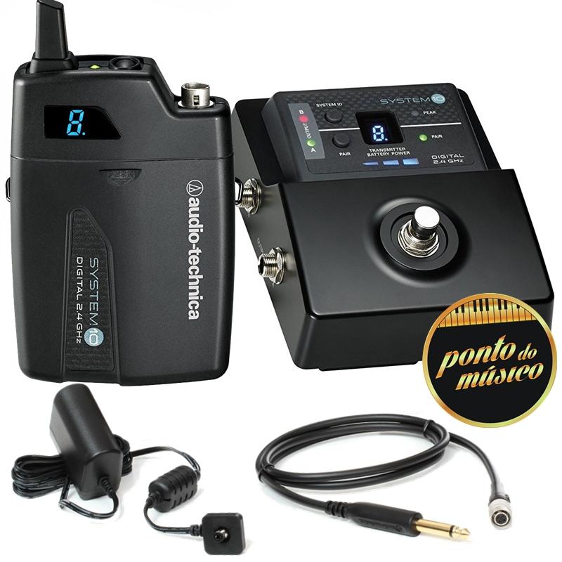Sistema Sem Fio Audio Technica STOMPBOX ATW-1501 P/ Instrumentos