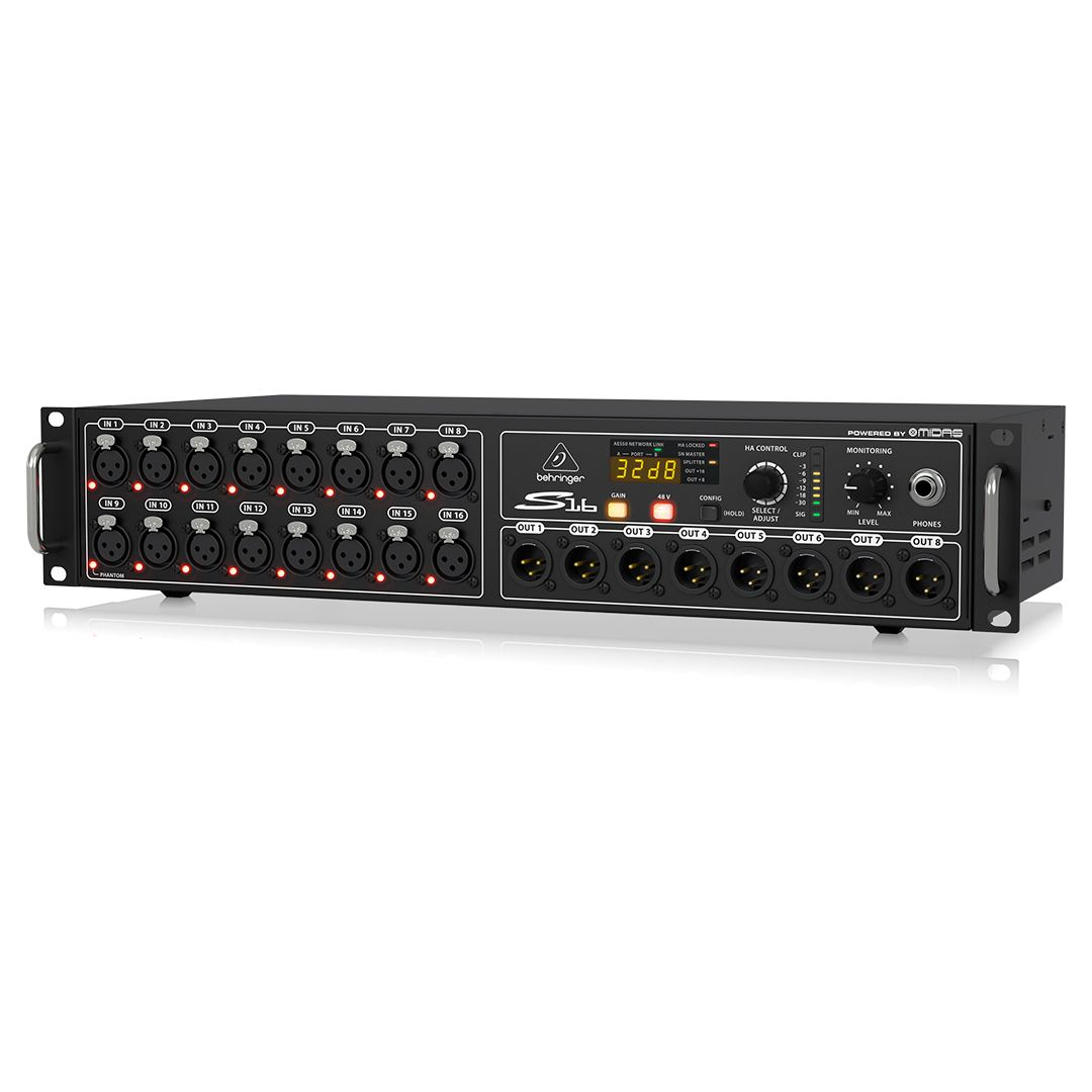 Stage Box Digital Snake Behringer S16 Poweres by Midas