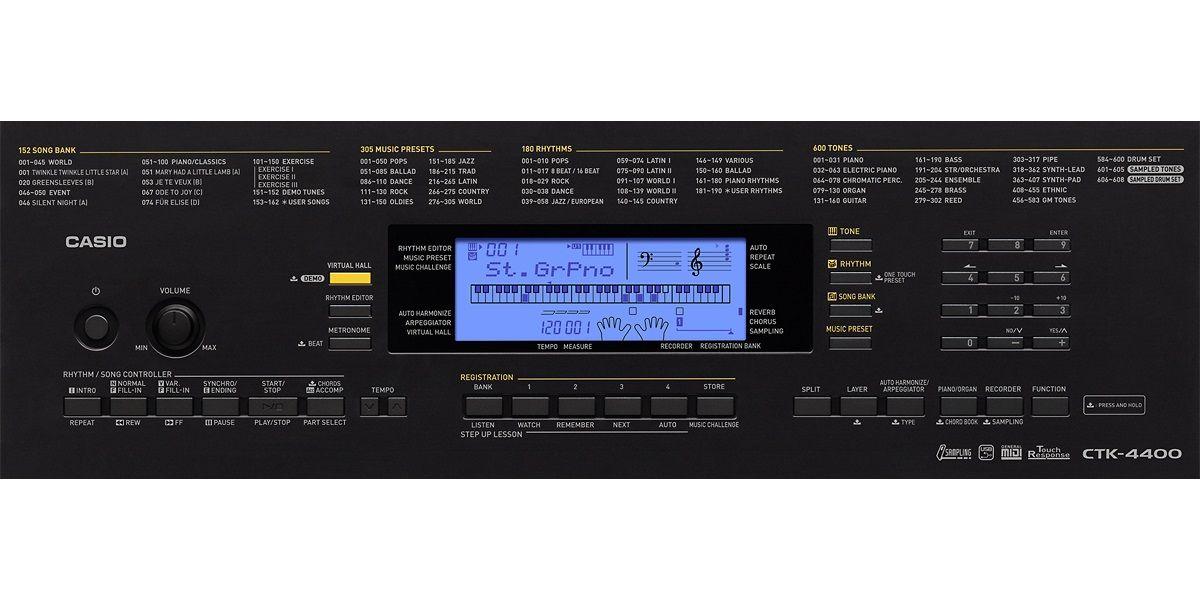 Teclado Casio Digital Ctk4400 61 Teclas Usb C/ Fonte