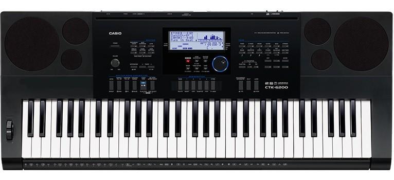 Teclado Casio Digital Ctk6200 61 Teclas Usb C/ Fonte