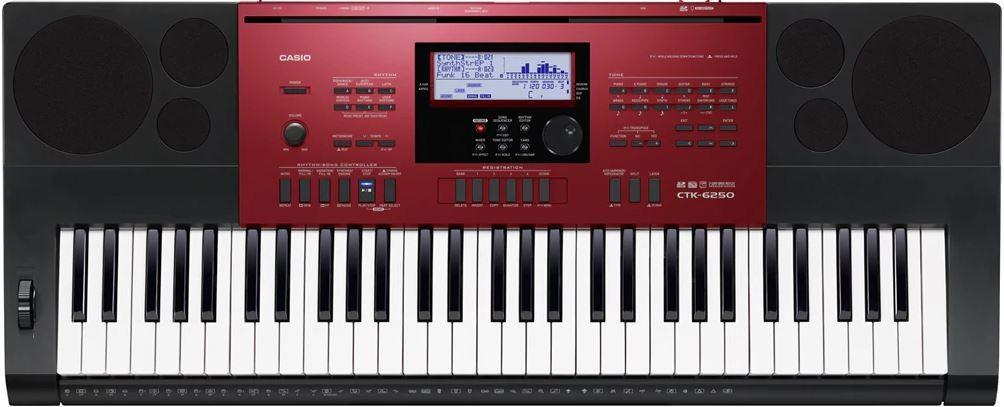 Teclado Casio Digital Ctk6250 61 Teclas Usb C/ Fonte