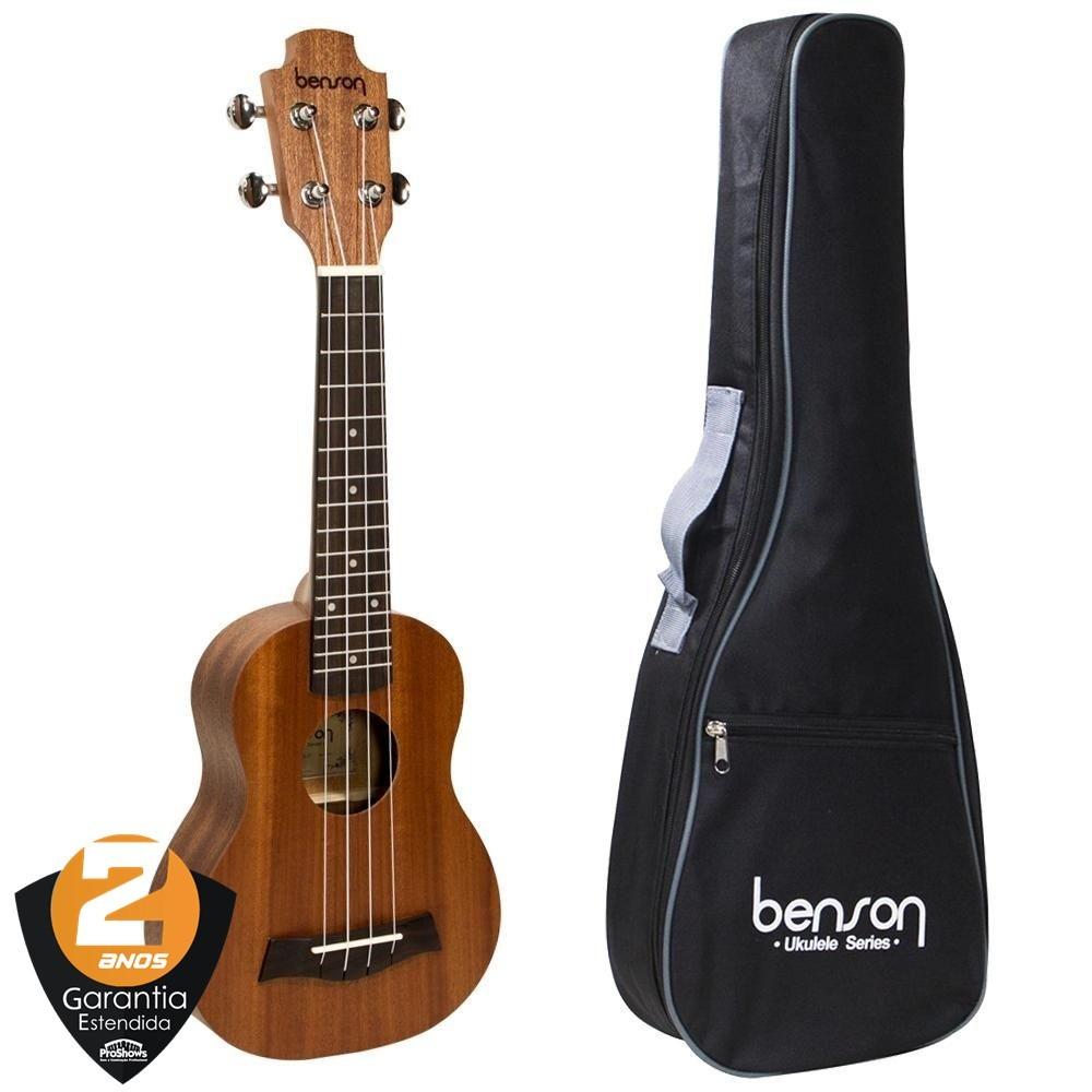 Ukulele Benson Soprano UB-21-B Sapele com Bag Benson