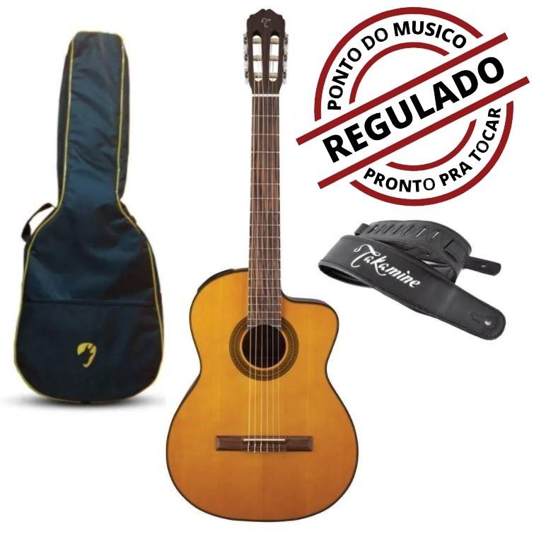 Violão Classico Takamine Nylon Gc1ce Tp4t Natural + Bag Luxo + Correia