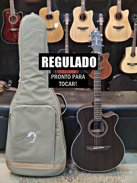 Violão Elétrico Aço Artistic Strinberg SA200C Tobacco + Bag Premium