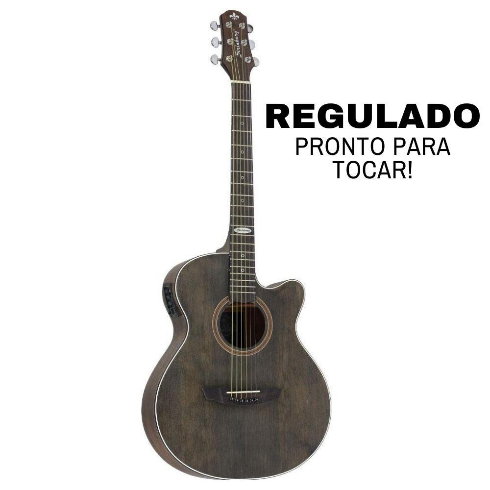 Violão Elétrico Aço Artistic Strinberg SA200C Tobacco Fosco Regulado
