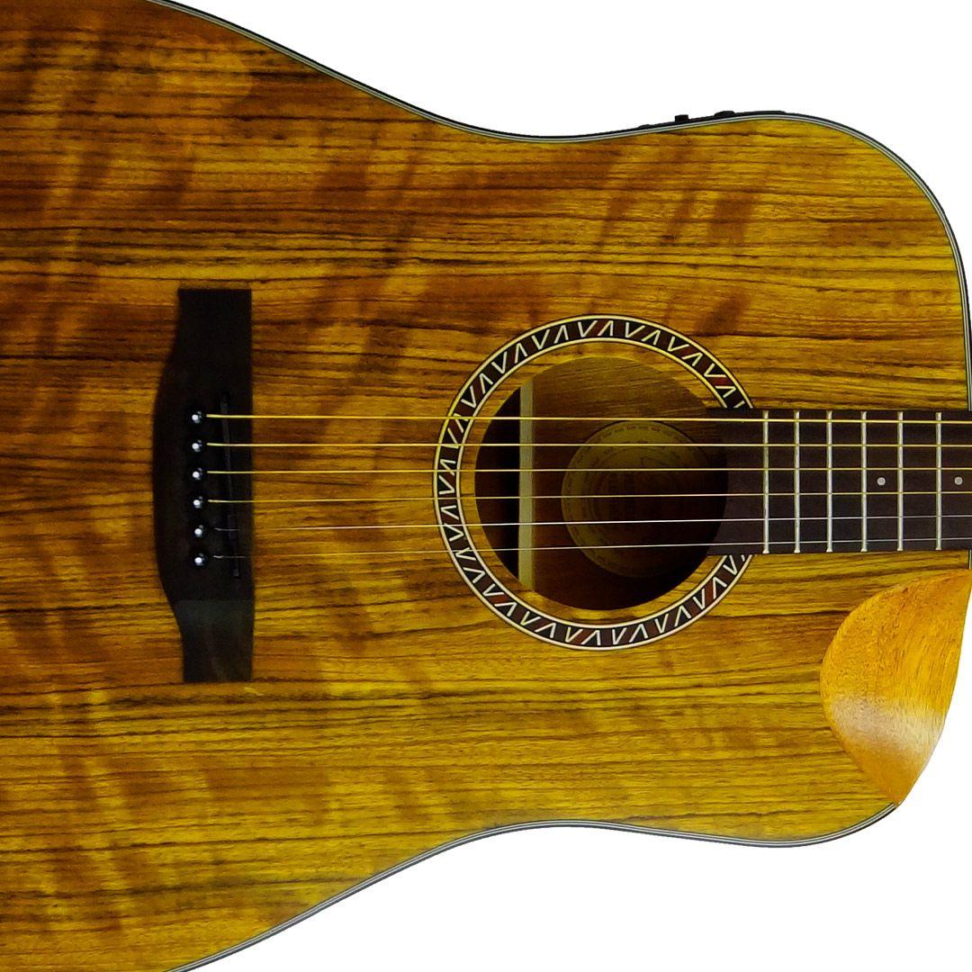 Violão Eletrico Aço Gonzalez Luthier Crepusculo Folk
