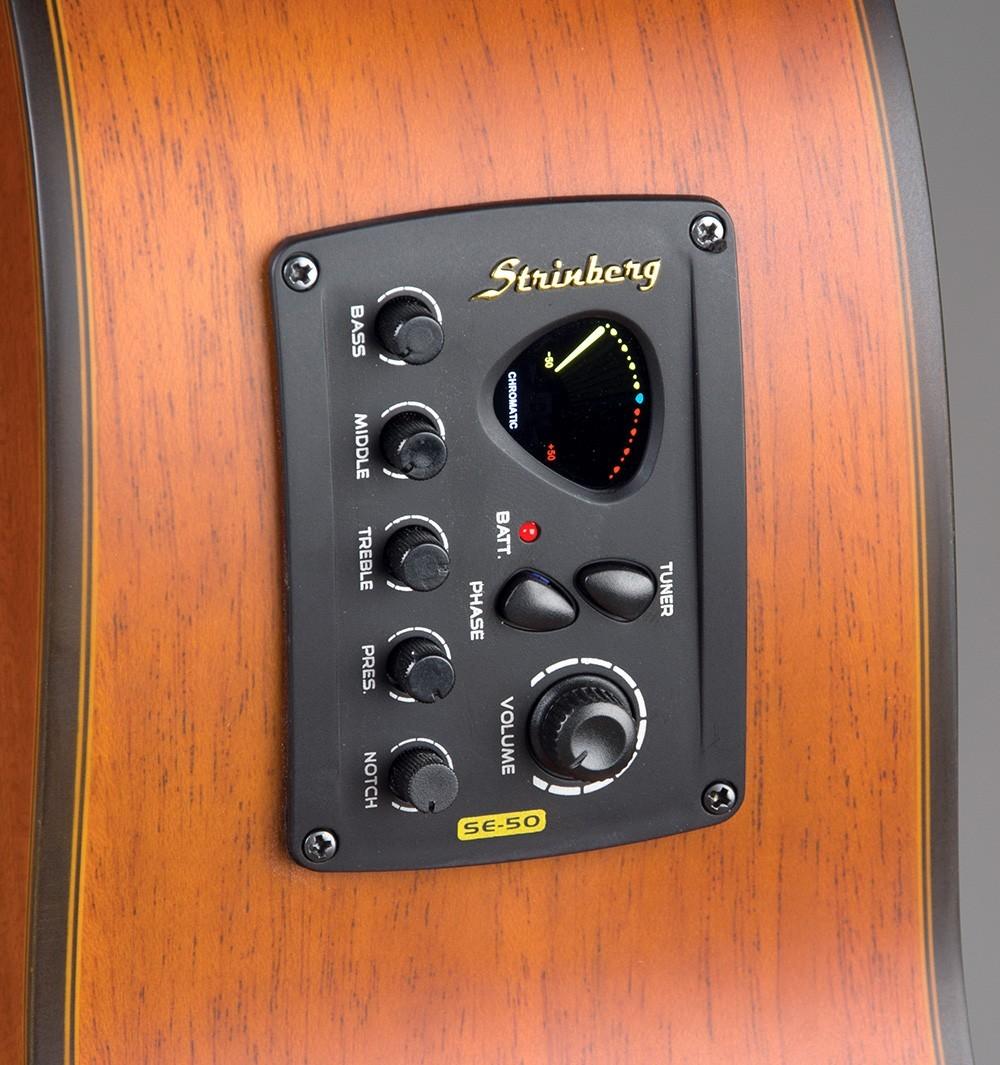 Violão Elétrico Aço Jumbo Strinberg SJ200 Tobacco Fosco