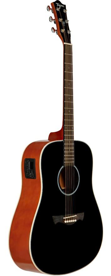 Violão Elétrico Folk Tagima Woodstock Tw25 Bk Preto