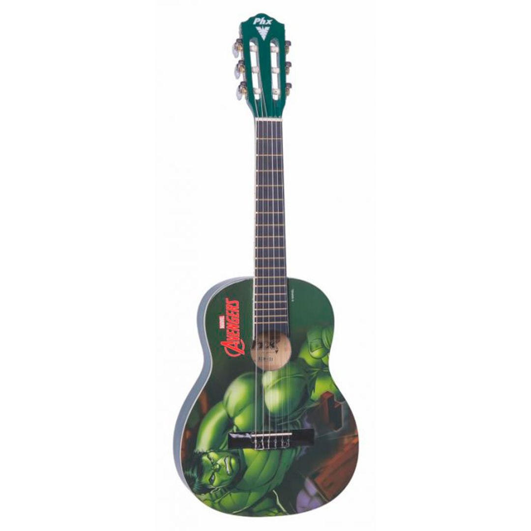 Violao Infantil Nylon PHX Marvel Hulk
