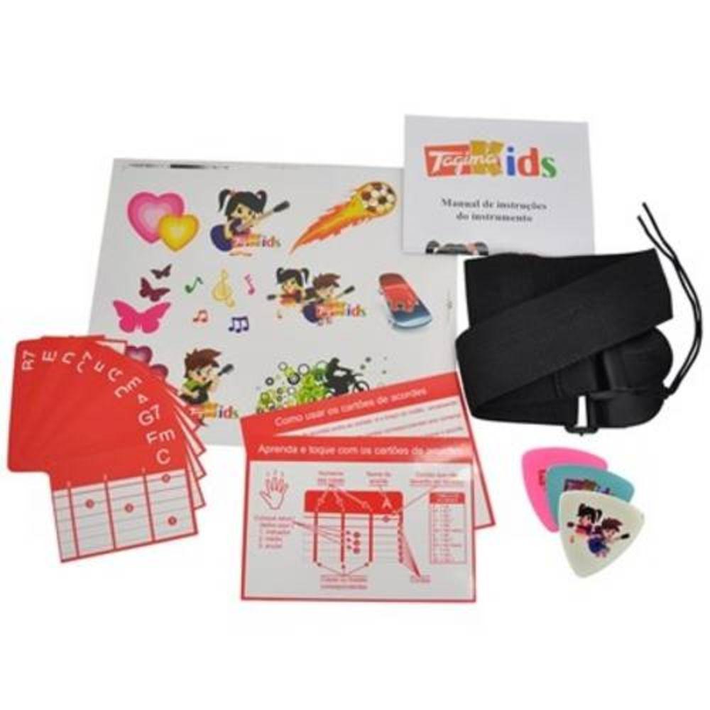 Violao Infantil Tagima Kids V2 Rosa Nylon Com Bag e Afinador