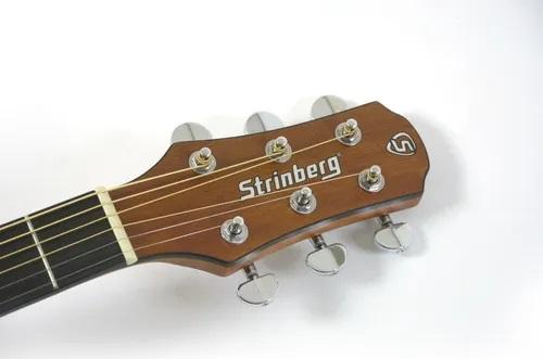 Violão Strinberg Sd201hc Natural Satin Fosco Elétrico Half Cutway Folk Aço C/ Bag