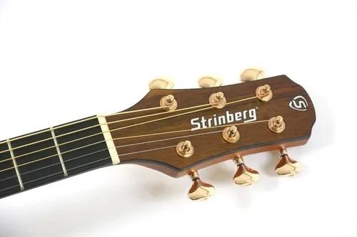 Violão Strinberg Sd300c Walnut Satin Fosco Elétrico Folk Aço Cutway C/ Bag