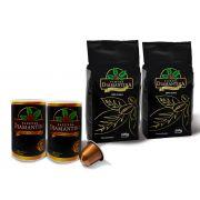 2 pcts de 500G  em Grãos  + 20 cápsulas de 5g tipo Nespresso®