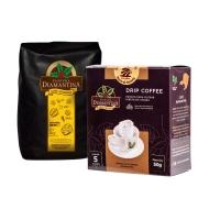 1 Café torrado em grão gourmet 1kg + 1 Drip Coffee® 5 unidades