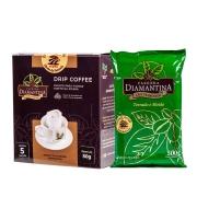 1 Café Tradicional moído 500g + 1 Drip Coffee® 5 unidades