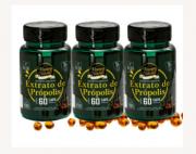 Extrato de própolis verde 60 cápsulas gelatinosas - Kit 3 unidades