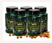 Extrato de própolis verde 60 cápsulas gelatinosas - Kit 5 unidades