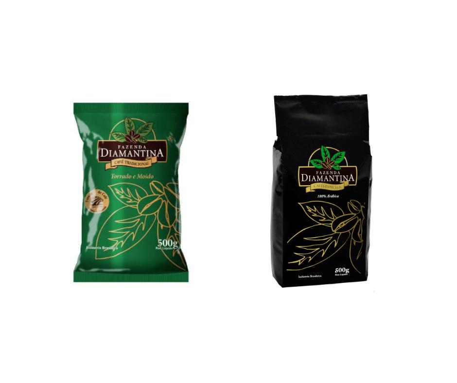 COMBO - 1 CAFÉ TORRADO E MOÍDO TRADICIONAL 500g + 1 CAFÉ ESPECIAL TORRADO E MOÍDO 500g