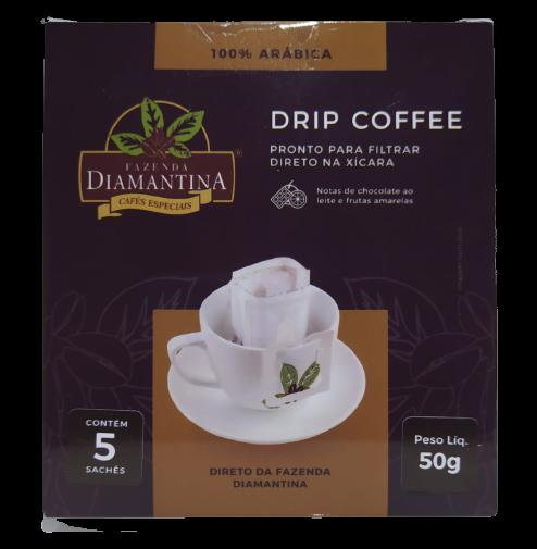 2 cafés Gourmet grãos, 2 cafés Especial moído, 1 drip coffee