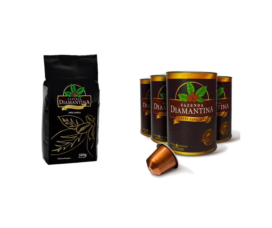 3 cafés moídos especial 250g + 120 cápsulas
