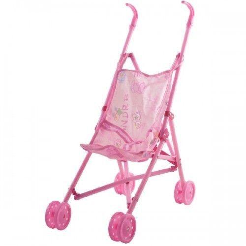Carrinho De Boneca Bebê Passeio Dobrável Infantil Rosa TOYS-190168
