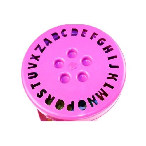 Balde Bloco Montar Rosa 100 Peca Brinquedo Educativo 9331 RiberBrink