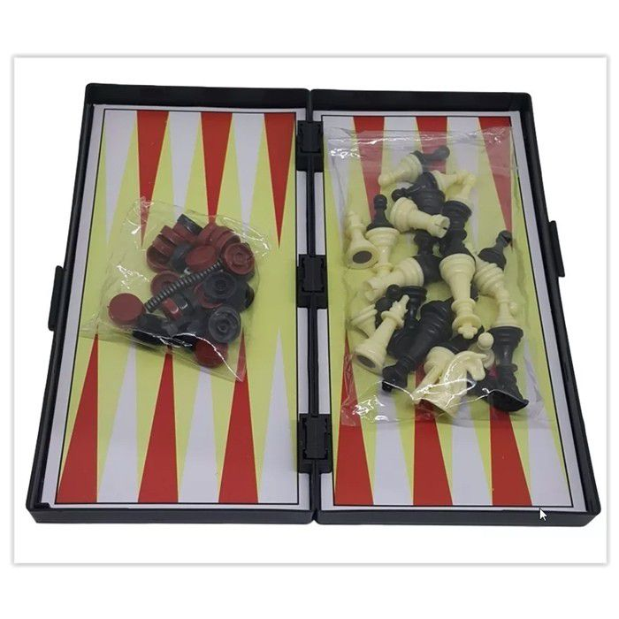 10  Jogo Xadrez Tabuleiro Dobrável Magnético Peças Com Imã 19x19 6701