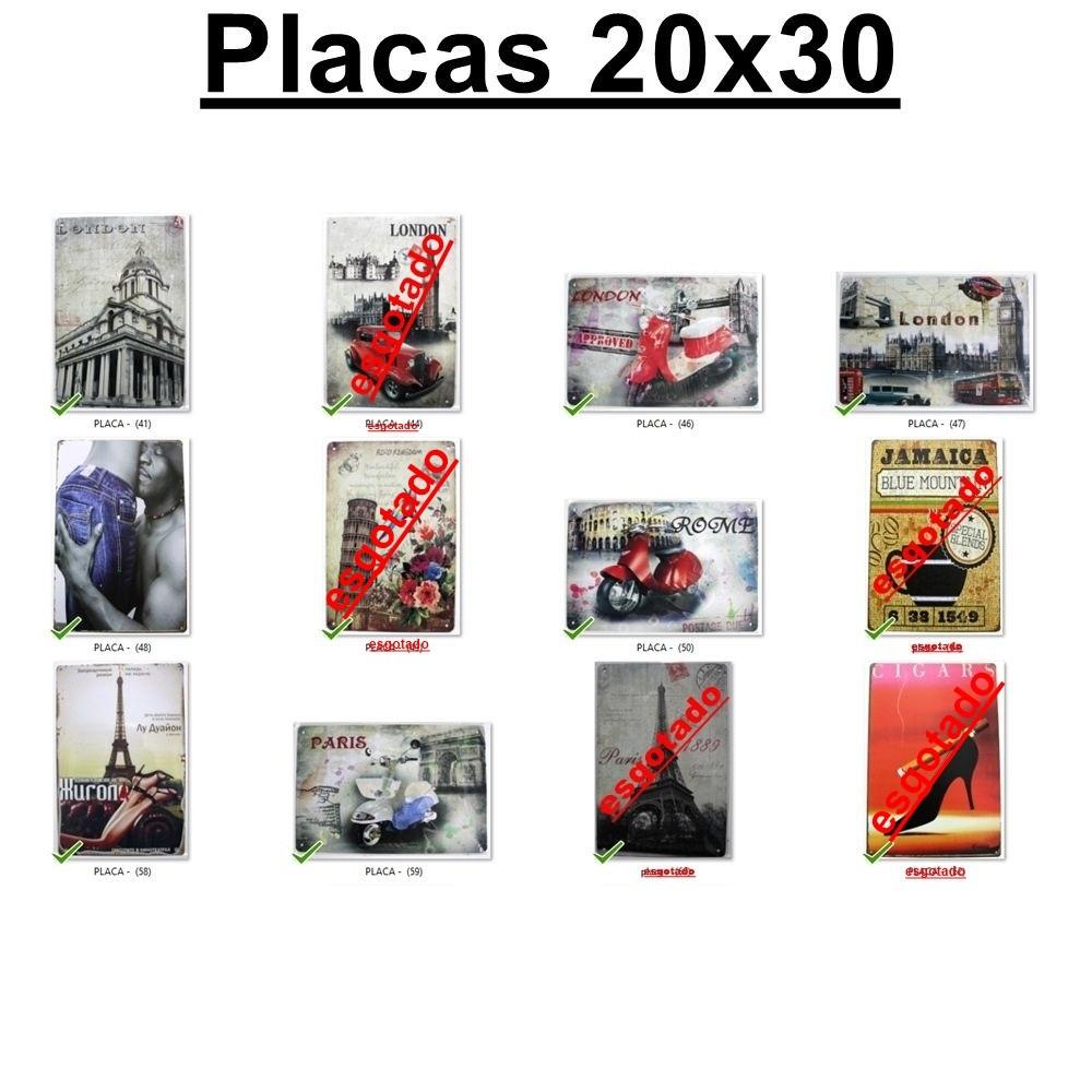 10 Placas decorativa