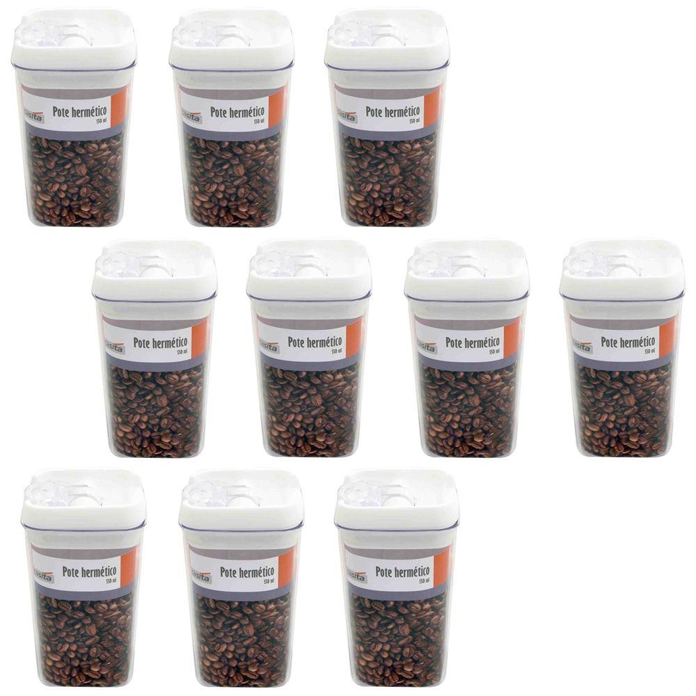 10 Potes hermético em poliestireno 550ml Casita HM016-10